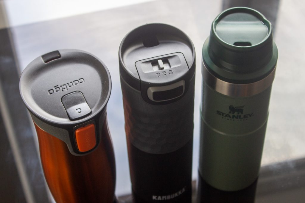 Travel Mug Lids - Kambukka Etna, Contigo West Loop, Stanley Trigger-Action